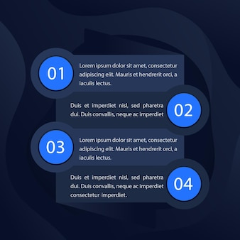 1, 2, 3, 4 stappen, tijdlijn, voortgangsgrafiek, vectorinfographicselementen voor web