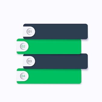 1,2,3,4 stappen, tijdlijn, zakelijke infographics