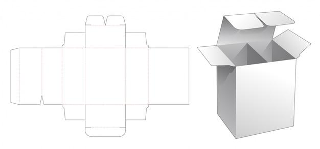 1-delige doos met gestanste sjabloon voor verdeler