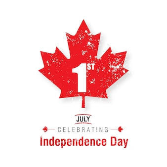 1 juli happy canada day canada vlag leaf op witte achtergrond