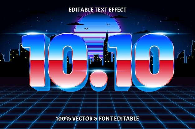 10.10 bewerkbare teksteffect retro-stijl