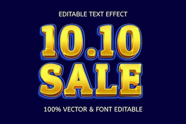 10.10 elegant bewerkbaar teksteffect in verkoopstijl