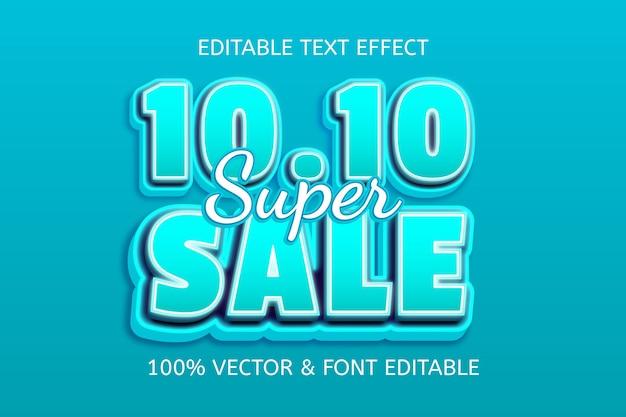 10.10 super sale-stijl cartoon bewerkbaar teksteffect