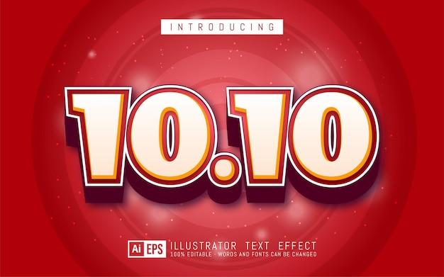 10.10 teksteffect, bewerkbare 3d-tekststijl