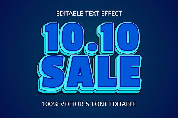 10.10 verkoopstijl cartoon bewerkbaar teksteffect