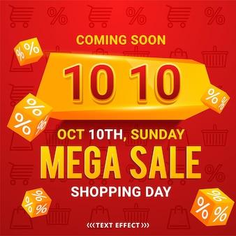 10.10 winkelen dag verkoop poster of flyer ontwerp
