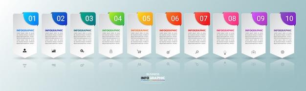 10 stappen infographic-sjabloon