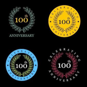 100 jaar het vieren van vintage label