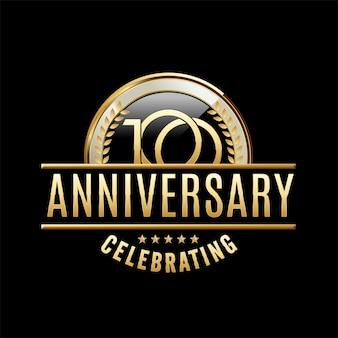100 jaar verjaardag embleem illustratie