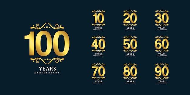 100 jaar verjaardag logo sjabloon
