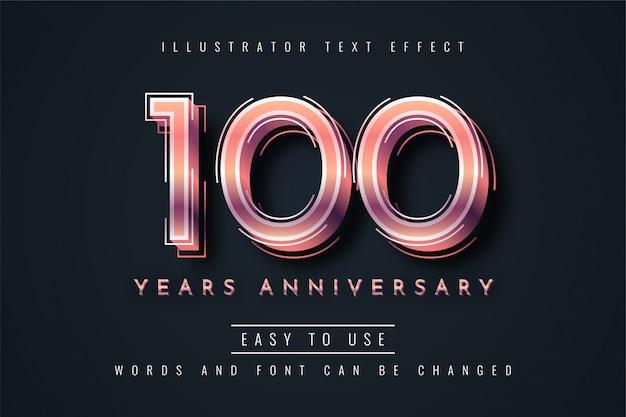 100 jaar verjaardag teksteffect
