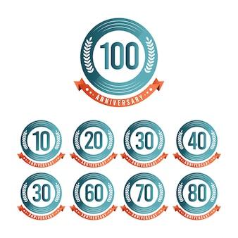 100 jaar verjaardag viering sjabloon ontwerp illustratie