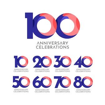 100 jaar verjaardag viering sjabloonontwerp illustratie