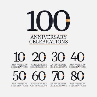100 jaar verjaardag vieringen vector sjabloon illustratie