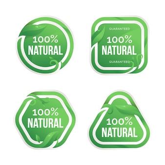100% natuurlijke badge-collectie