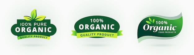 100% pure organic label gecertificeerd