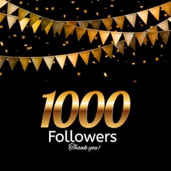 1000 volgers. bedankt achtergrond