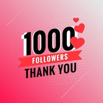 1000 volgers bedankt banner