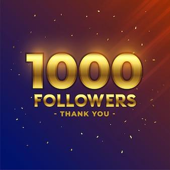 1000 volgers vieren dank u banner
