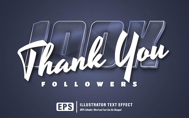 100k teksteffect - bewerkbaar - woord en lettertype kunnen worden gewijzigd