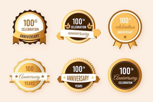 100ste verjaardag badge-collectie