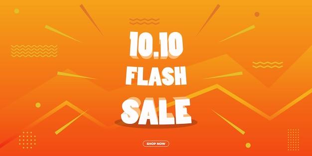 1010 flash-verkooppromotiebanner voor uw merk of bedrijf