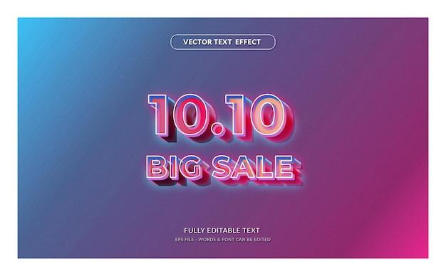 1010 grote uitverkoop met bewerkbaar teksteffect in moderne stijl