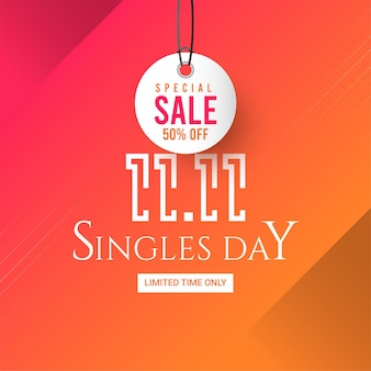 11 11 singles shopping dag bannersjabloon