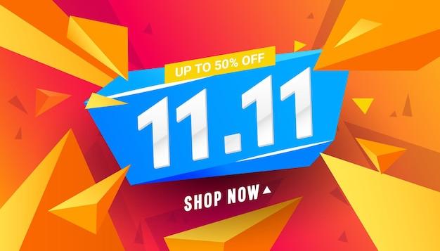 1111 verkoop banner sjabloon ontwerp banner