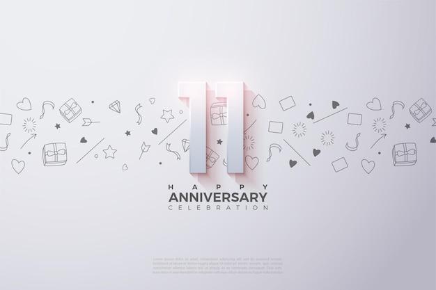 11e verjaardag met minimale versieringen