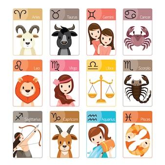 12 astrologische tekens van de dierenriem