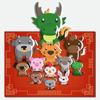 12 chinese dierenriemtekens