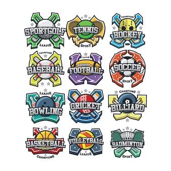 12 sport logo vector