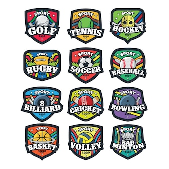 12 sport logo vectorillustratie