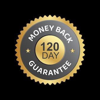 120 dagen geld-terug-garantie vector vertrouwensbadge
