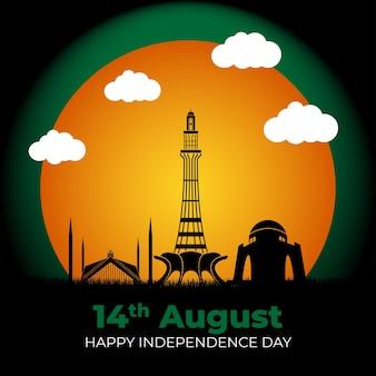 14 augustus pakistan onafhankelijkheidsdag creatief ontwerp