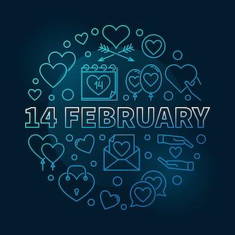14 februari ronde illustratie
