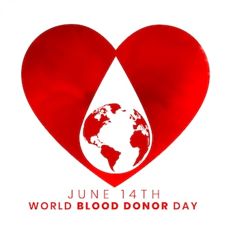 14 juni wereld bloeddonor dag achtergrondontwerp