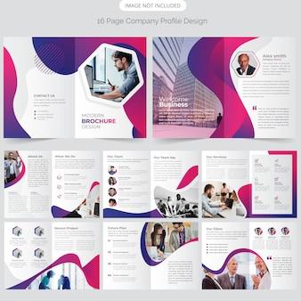 16 pagina bedrijfsprofiel ontwerpen