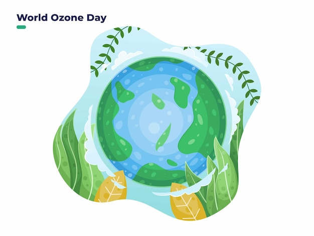 16 september internationale dag voor het behoud van de ozonlaag of illustratie van de wereldozondag