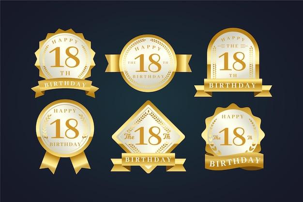 18e verjaardag badges