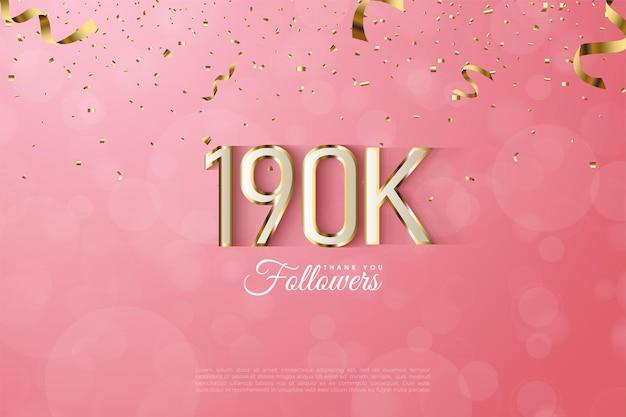 190.000 volgers met mooie gouden randnummersillustratie
