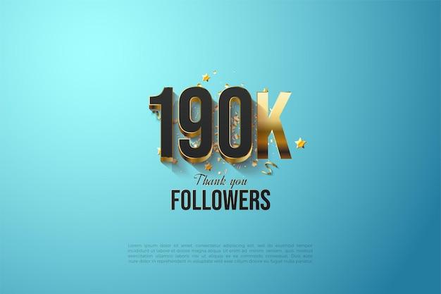 190.000 volgers met vergulde cijfersillustratie