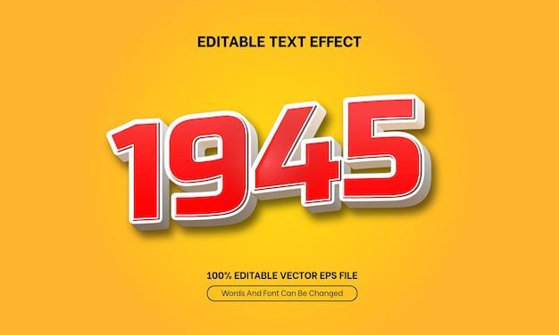 1945 dirgahayu 17 agustus indonesië onafhankelijkheidsdag bewerkbaar teksteffect