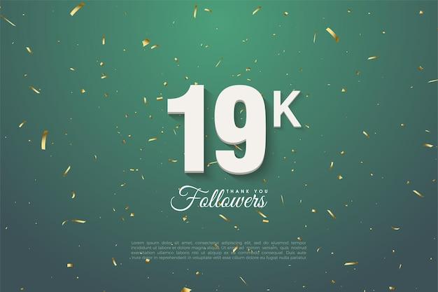 19k volgers, bedankt sjabloon