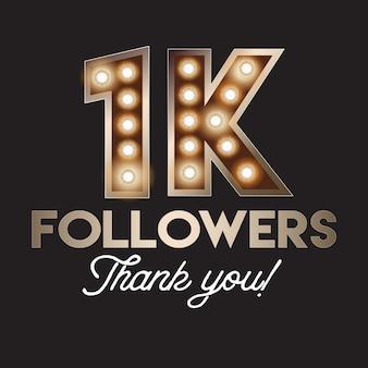 1k volgers bedankt banner