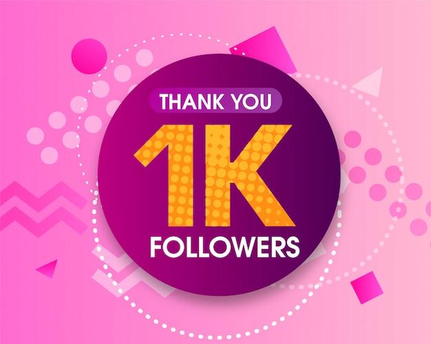 1k volgers bedankt