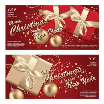 2 banner merry christmas