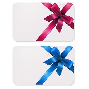 2 cadeaubonnen, met verloopnet Premium Vector