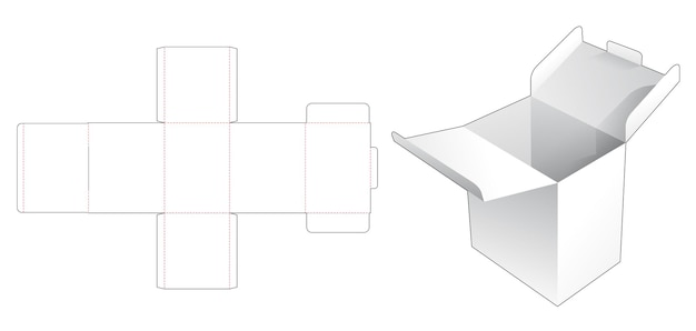 2 flips verpakkingsdoos met gestanste sjabloon met vergrendelde punt